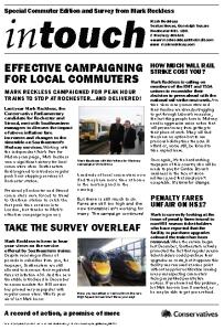 Mark Reckless Commuter Survey 2010