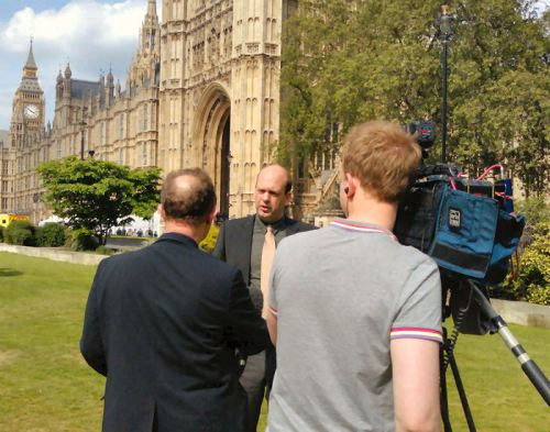 Interview on College Green