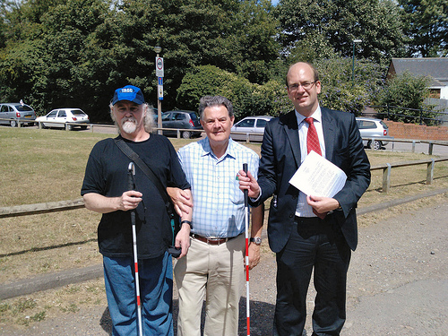 Adrian Osborne, Cllr Ted Baker and Mark Reckless MP visit Watts Meadow