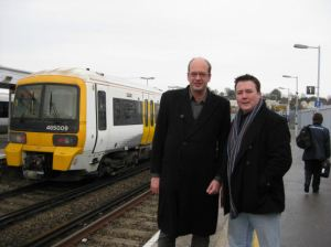 Mark Reckless with Fares Fair campaigner Chris Irvine