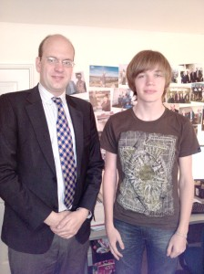 Mark Reckless MP with Joe Taylor