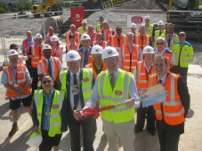 Mark Reckless MP starts work at site of new sorting office in Strood