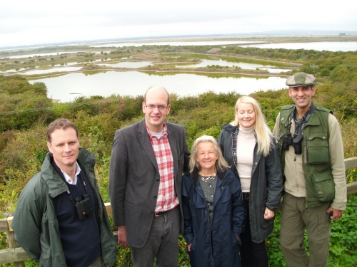 Mark Reckless with members of the RPSB and Friends of the North Kent Marshes