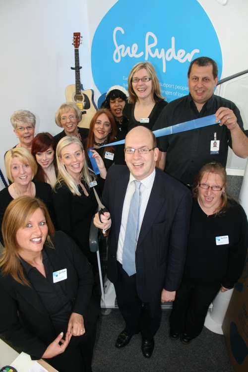 Mark Reckless joins staff and volunteers at opening of new Sue Ryder shop on Chatham