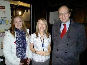Cllr Kelly Tolhurst, Tracy Stringfellow from Medway Council and Mark Reckless MP
