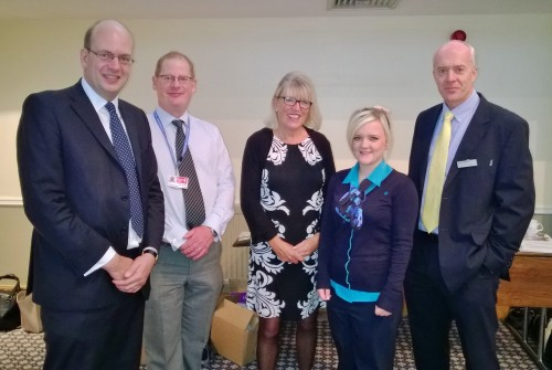 From left: Mark Reckless MP, Mike Rayner (Early Intervention Office, KCC), Tessa Oversby (Head of Employability, Barclays), Jade Dellbridge (Cashier, Barclays) and Marin Adamson (Senior Barclays Business Manager)